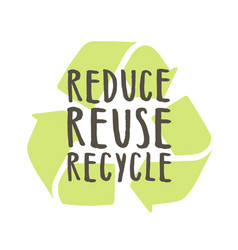 reduce reuse recycle vector image