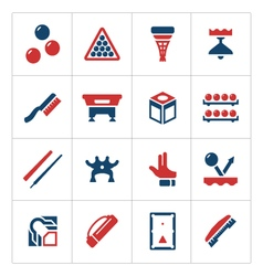 Set color icons of billiards snooker and pool vector image vector image
