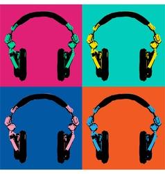 Headphones Pop Art 2 vector image vector image