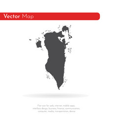 map bahrain isolated black vector image