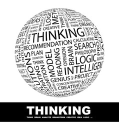 THINKING vector image vector image