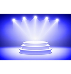 3d Presentation podium with sparkling spot lights vector image
