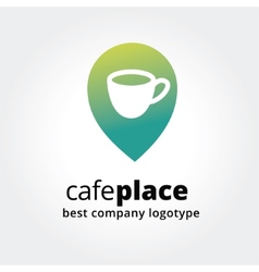Abstract coffee marker for maps logotype vector