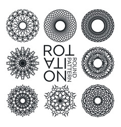 abstract ornamental monochrome round elements vector image