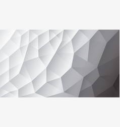 Abstract triangulated background white vector