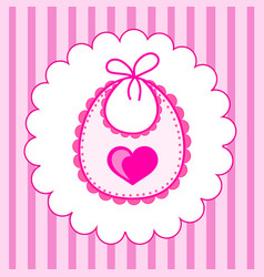 baby bib for girl vector image