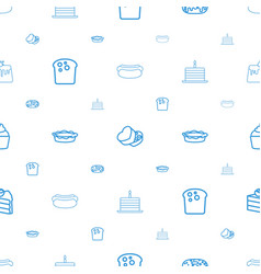 Bakery icons pattern seamless white background vector