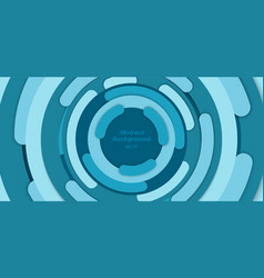 banner web template abstract background blue vector image