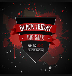 Black friday sale promotional poster vector