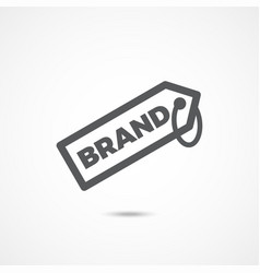 brand icon on white vector image