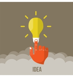 bulb icon with innovation idea vector image