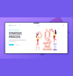 business strategy website landing page women vector image