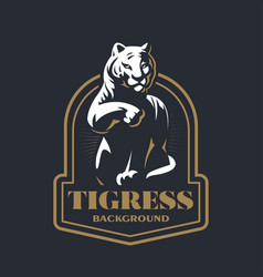calm tiger washes vector image