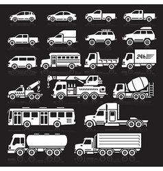 Cars icon black vector image