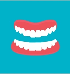 Cartoon Dental technology false teeth vector