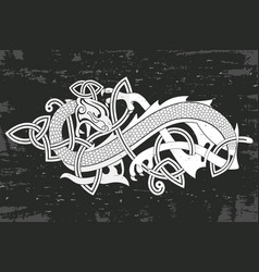 Celtic two-headed dragon vector