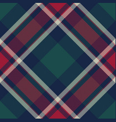 check tartan pixel plaid seamless pattern vector image