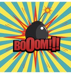 Comic book bomb explosion vector