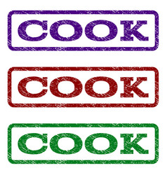 Cook watermark stamp vector