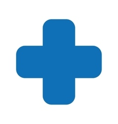 Cross medical symbol isolated icon design vector