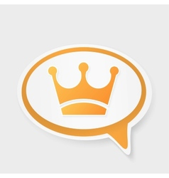 Crown speech bubble vector