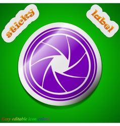 Diaphragm icon sign Symbol chic colored sticky vector