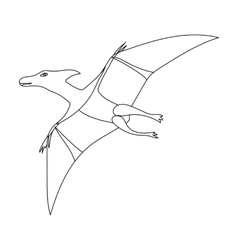 Dinosaur Pterodactyloidea icon in outline style vector