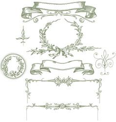 Elements for frame vintage vector