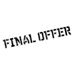Final offer rubber stamp vector