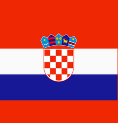 flag of croatia in official rate and colors vector image