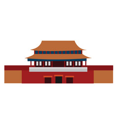 Forbidden city on white background vector