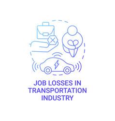 Future transport unemployment threat concept icon vector