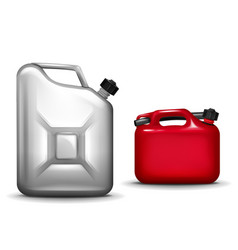 gasoline canister realistic 3d vector image