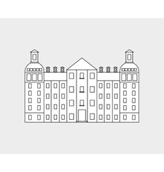 German architecture building vector image