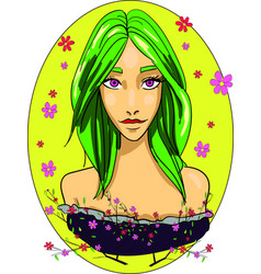 girl spring goddess beauty woman yellow vector image