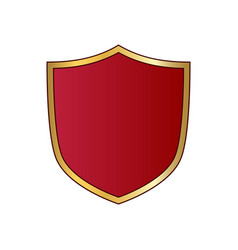 gold and red shield shape icon logo emblem vector image