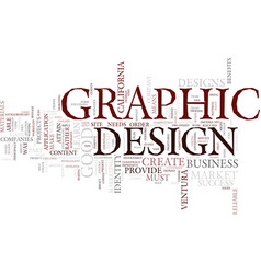 Graphic design a tool for business success text vector