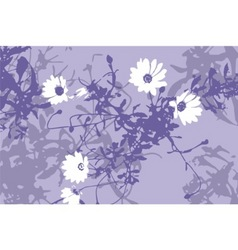 grunge flowers vector image
