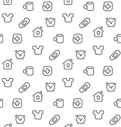 Home things seamless pattern vector