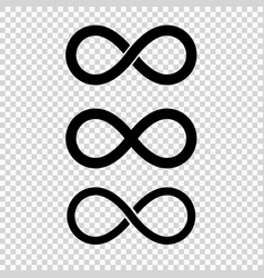Infinity loop icon isolated vector