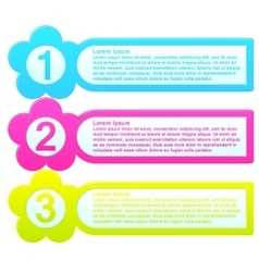 Infographic template colorful list vector