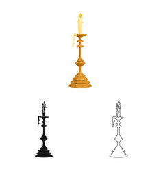 Isolated object candle and candlestick symbol vector
