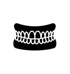 Jaw with teeth - human jaw icon vector