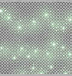 light glow effect star bursts green color vector image