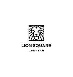 lion square logo icon vector image