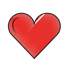 love heart romantic passion emotion vector image