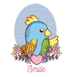 lovely parakeet cartoon vector image
