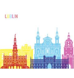 lublin skyline pop vector image
