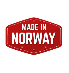 made in norway label or sticker vector image