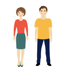 man and woman isolated white background vector image